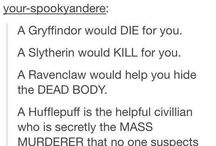 The four houses / Ravenclaw, Slytherin, Hufflepuff and Griffendor