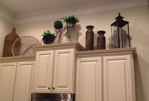 Top of cupboards and fridge