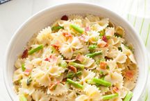 Brown Butter Pasta with Asparagus & Bacon from
