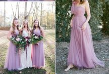 Your Spring Wedding Inspiration / The perfect spring wedding bridesmaid and groomsmen ensembles and wedding inspiration in softer spring colors.