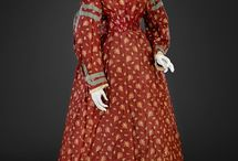 Red Mid-19th Century Dresses