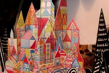 Paper art, fold, cut, paint...
