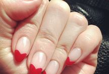 Heart tip nails love it.