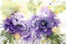 suluboya çiçek
