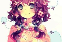 Anime girl <3 love