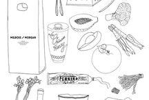 food szkic i rysunek