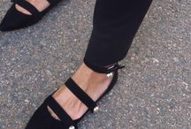 pointy black flats