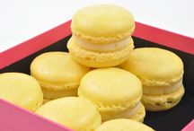 French Macarons / Sweet and delicate, French Macarons are a meringue based cookie with a shiny finish and cream filling.