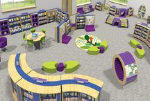 School Library Design / Opening the Book has two fantastic school library shelving systems, Performance for high school libraries and BookSpace for elementary school libraries. These unique library shelving systems can be used separately or together to create imaginative, exciting and stimulating school library designs.