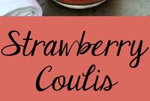 Strawberries coulis