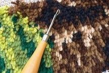 Knopen tapijt ,kussen .... / Knopen maken met wol