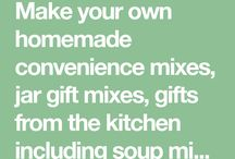 Homemade mixes- many categories