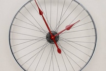 Bicycele wheel clock