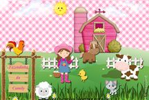 "Kit ""Small farm for girls"" / Kit Fazendinha para meninas http://digitalsimples.blogspot.com.br/2014/08/kit-personalizado-fazendida-para-menina.html"