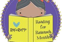 ReFoReMo Challenge / Reading for Research Month Challenge, was founded in 2015 to help picture book writers reform writing by reading and researching mentor texts in the month of March.