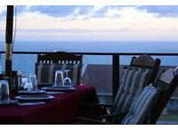 Mossel Bay Holiday acccommodation / Stroopsoet Vakansie Huisie : Lovely two bedroom 2 bathroom self catering house with beautiful sea view. Open space living area that opens up on the patio with build-in braai.