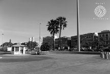 Via Roma in bianco e nero. / Alcuni scorci della Via Roma.