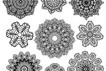*CROCHET DOILY / MOTIFS / Motif is a French word meaning to recur. The designs recur in a shape. if you make it big enough it becomes a nice doily for your furniture. There are so many wonderful uses for them when you put them all together... bed cover, clothes, window curtains, lampshades, doll dresses, pillows, the uses are almost endless as are the patterns. So have fun... you can also make them any color or combination of colors... or out of crochet thread or yarn. Have fun with them ~ I do. / by Janet Marie