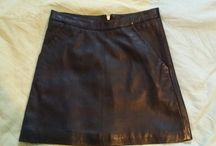 topshop a-line leather skirt in tall