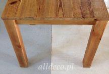 Stoły / Tables / Tische / Tables / Stoły ze starego drewna