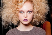 great textured hair / natural, set, runway