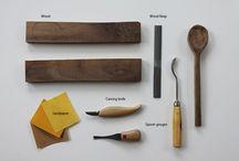 Colheres de madeira