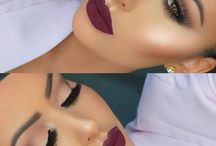 Maquiagem de batom bordô