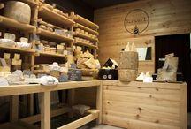 Elkano 1, Gazta is cheese / Elkano 1, Gazta is Cheese Cheese shop in San Sebastian www.hirukistudio.com #interiordesign #retaildesign #cheese