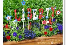 GARDEN: Red, White and Blue / Patriotic garden displays and decorations! / by Birds & Blooms Magazine