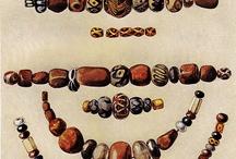 Old glass beads /  handmade glass beads
