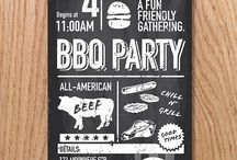 BBQ illustrations / A collection of vector based bbq invitations