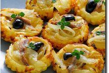 Tartes salées, entrees, aperitifs, salades et sauces ...miiiiam ! / Salades/ Entrées/ apéritifs/ tartes, quiches, cakes, chaussons, pizzas/ SOUPES ....muffins salés ect....
