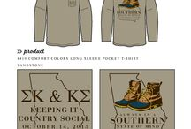 Southern / Greek sorority and fraternity custom shirt designs featuring southern themes. For more information on screen printing or to get a proof for your next shirt order, visit www.jcgapparel.com