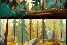 BG design / Cool animation and concept art background design.