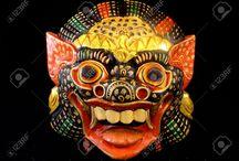 ceremonial ritual tibetan chinese japanese ...  masks