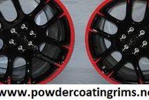 powder coating rims colors