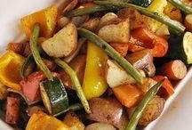 Pan roasted veggies