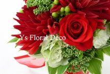 ブーケ 赤 bouquet red / ys floral deco