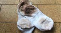 limpeza das meias