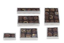 Clear Candy Boxes /  Clear boxes in rounds, squares, rectangles and specialty shapes are all food safe, made from environmentally friendly PET and show off decorative candies perfectly. Wholesale candy packaging since 1938.