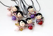 muñecas con bolas de madera