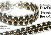 discduo peyote bracelet