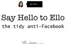 Ello / Ello... What is Ello? Anti-Facebook? The next MySpace? Why should you care about it? Learn the skinny here. Topics: Ello | Ello tips | Ello user guides | Social Media | Website traffic / by Ana Hoffman