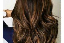 Brown hair baylage