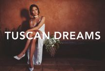 TUSCAN DREAMS / GLLxLOVESTONED Styled Shoot | Combining milky, ivory silks with wild white blooms and rich, terracotta tones, this is Tuscan Dreams