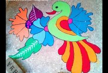 Bird rangoli designs / bird rangoli designs