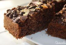 pastel de chocolate-cocoa con avena