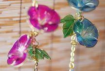 tel ve ojeden çiçek yapımı
