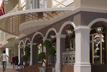 Дизайн проект фасада торгового центра в стиле классика / Пожелания заказчика: разработать дизайн проект фасада торгового центра в стиле классика по ул. Соборная в г. Винница, знаменитого магазина «Троянда».