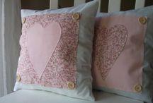 Párnák, pillows <3 sewing handmade / Párnáim vidéki romantika stílusban